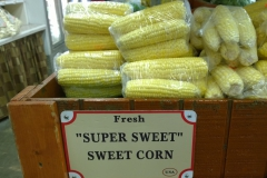 The sweet corn is super sweet